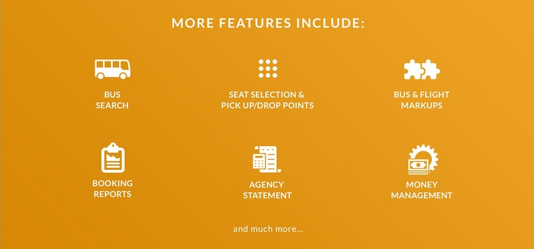 B2B Flight / Bus Booking - More Features