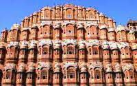 Pink City walled with beautiful forts and historical monuments, Jaipur India