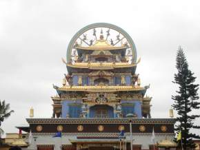 Bylakuppe Buddhist Temple, Coorg