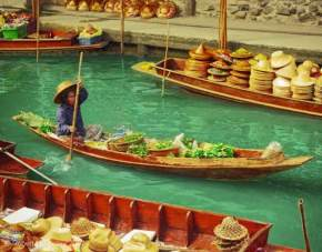 floating-market, thailand
