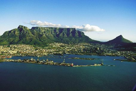 Aerial View Of Cape Town South African Tourism, 