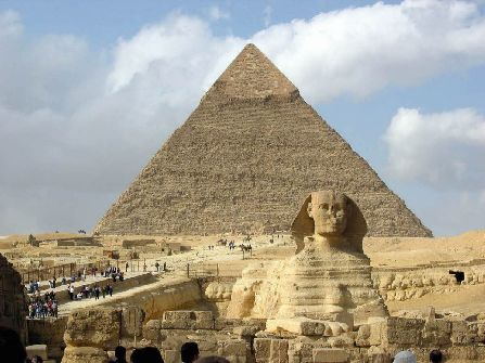 Egypt Giza Sphinx Pyramids, 