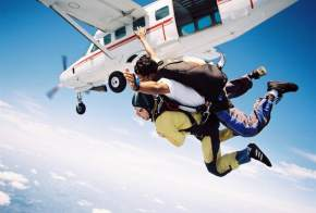 Skydiving in bahamas
