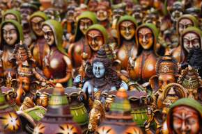 Handicrafts in santiniketan