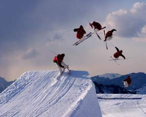 Skiing in srinagar
