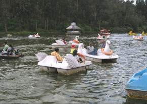 Boating in vrindavan