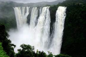 Waterfall in kaziranga national park