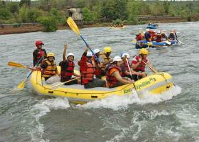 Rafting in bheemeshwari