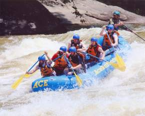 White Water Rafting in bheemeshwari