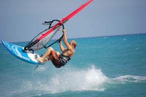 Wind Surfing in kumarakom